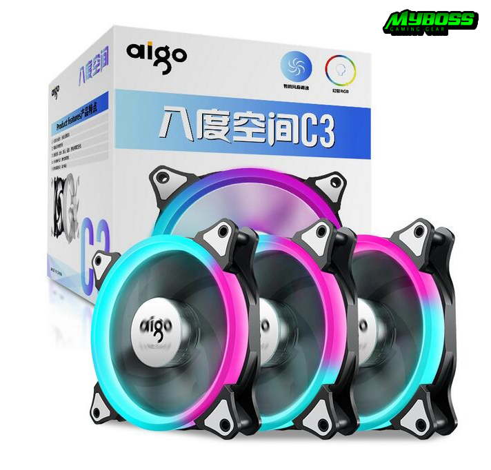 FAN AIGO C3 LED RGB