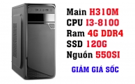 BỘ PC OFFICE II I3-8100 - RAM 4G - SSD 120G