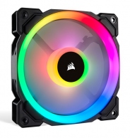 Fan Case Corsair LL140 RGB 140mm Dual Light Loop RGB LED 2 Fan Pack with Lighting Node PRO