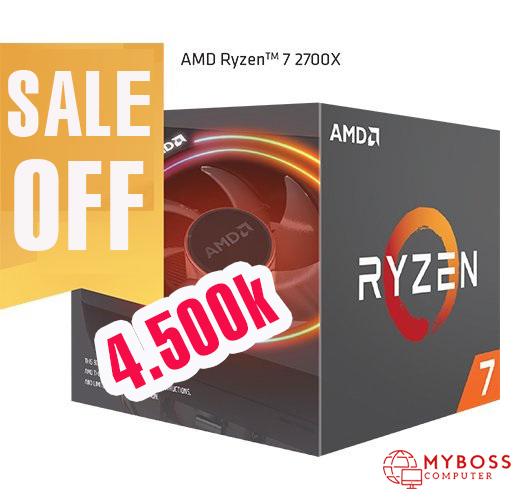 CPU AMD Ryzen 7 2700X đang bán ra với mức giá 4tr5.