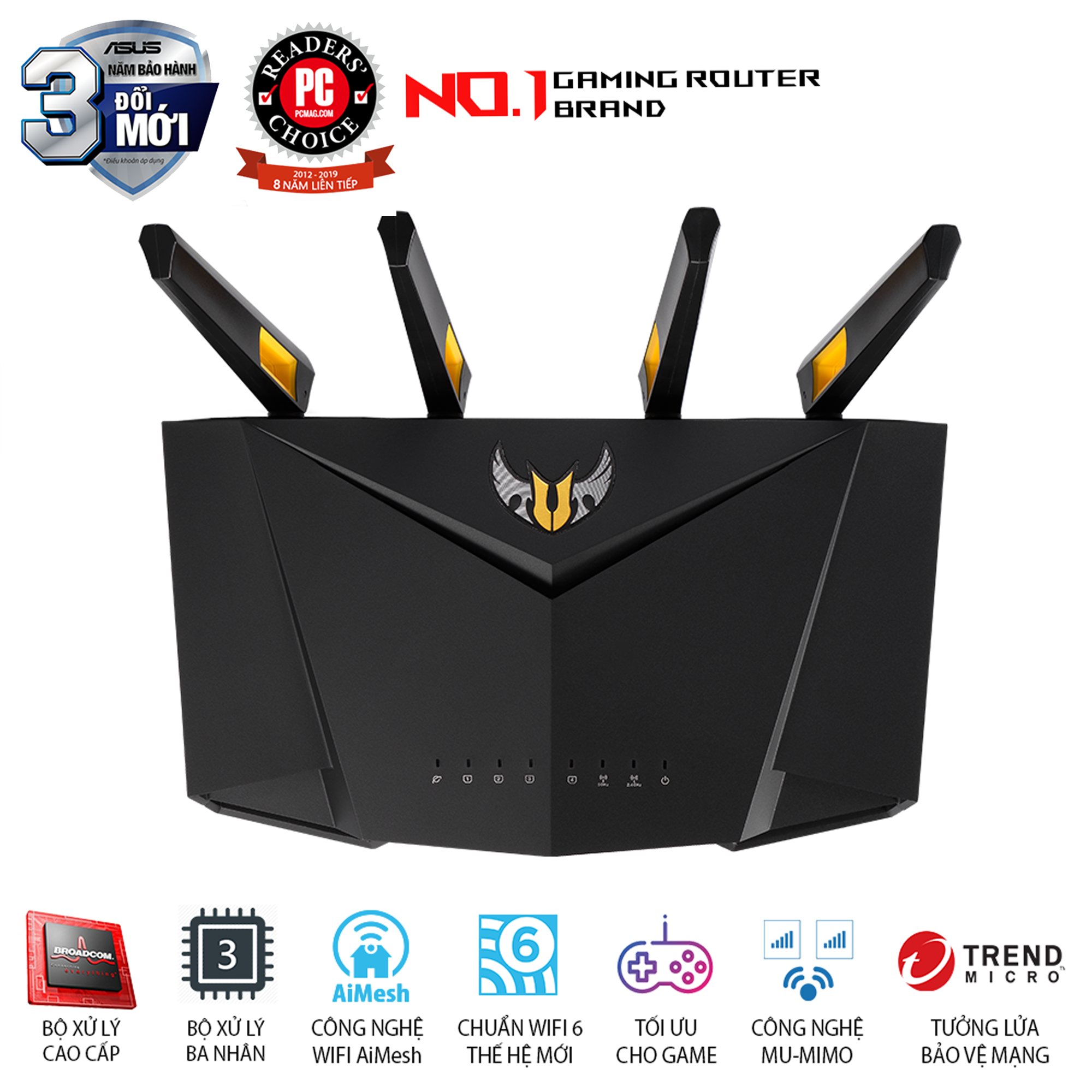 ASUS TUF Gaming AX3000 Wifi 6 Aimesh AiProtection Pro
