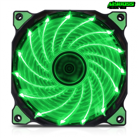 Fan Case Brushless 12CM LED Green ( 15 Led )