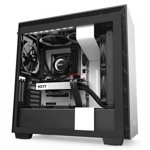 Vỏ Case NZXT H710i Mate White -  Trắng Đen