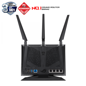ASUS GT-AC2900 (Gaming Router) Wifi AC2900 2 băng tần, AiMesh 360 WIFI Mesh, WTFast, GeForce Now, AiProtection, USB 3.1, AURA RGB