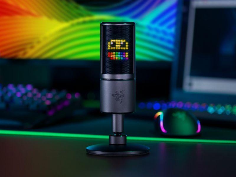 Razer ra mắt Míc Seiren Emote hỗ trợ màn hình led 8x8, có thể tùy chỉnh