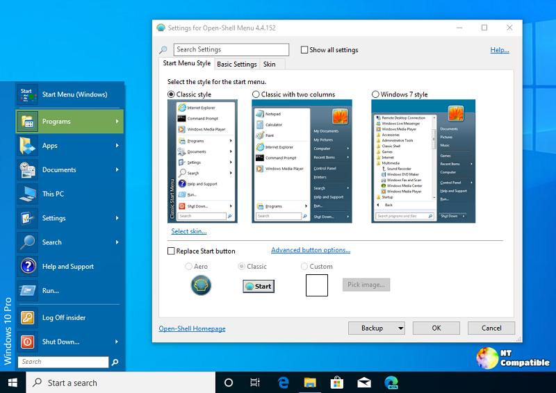 Tùy biến menu Start của riêng bạn với Open-Shell